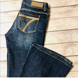 Seven7 Jeans Wide Flare Stitched Pocket